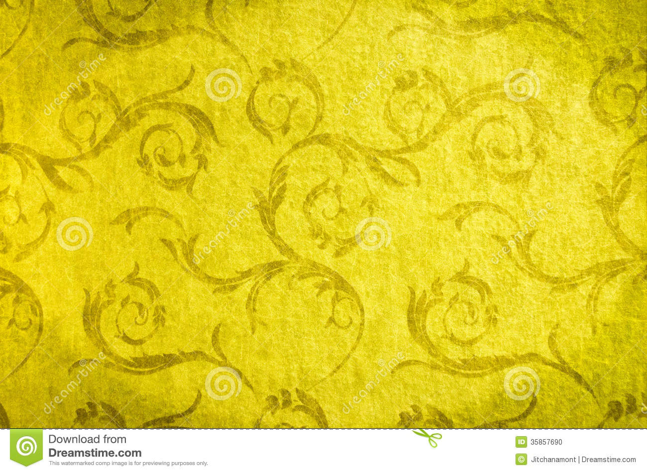 Classic Wallpaper Seamless Vintage Pattern On Gold