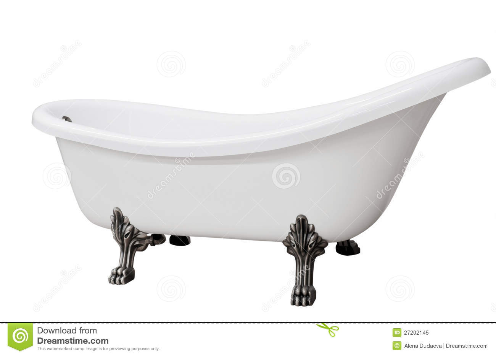 Classic White Bathtub With Legs Royalty Free Stock Photo