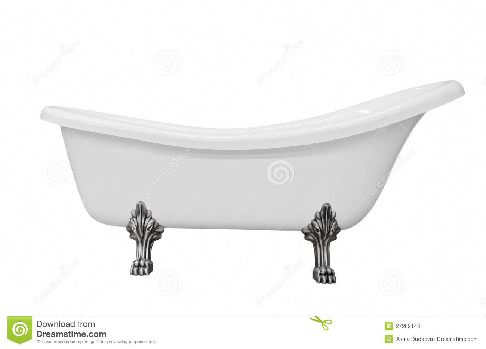Classic White Bathtub With Legs Stock Image - Image of liquid ...