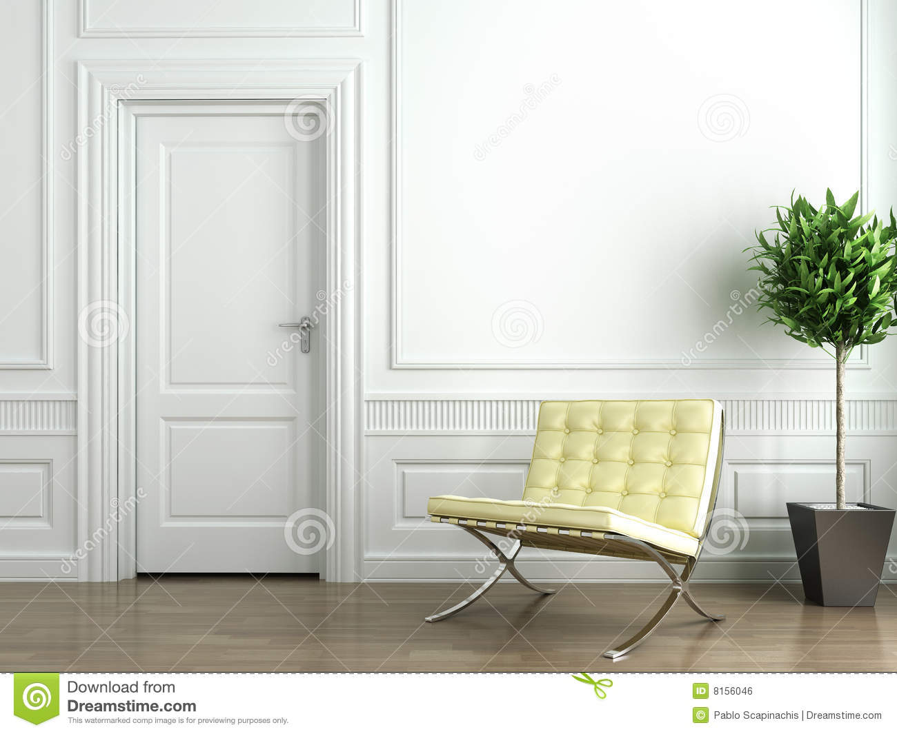 classic white interior stock illustration illustration of elegance