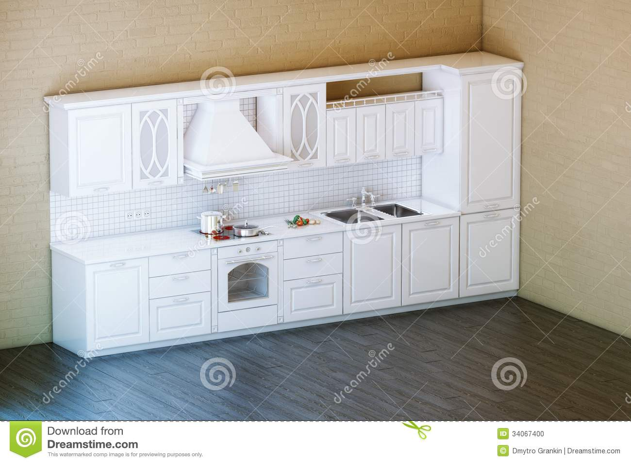 Stock Photo Classic White Kitchen Cabi  Parquet Floor Design Image34067400 on physiotherapy floor plans