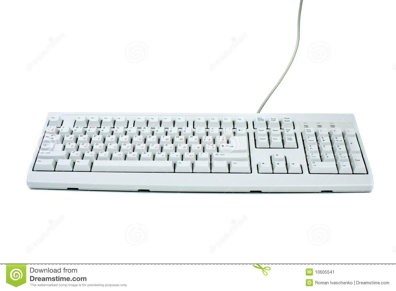 Classic White Pc Keyboard Stock Image Image Of Office