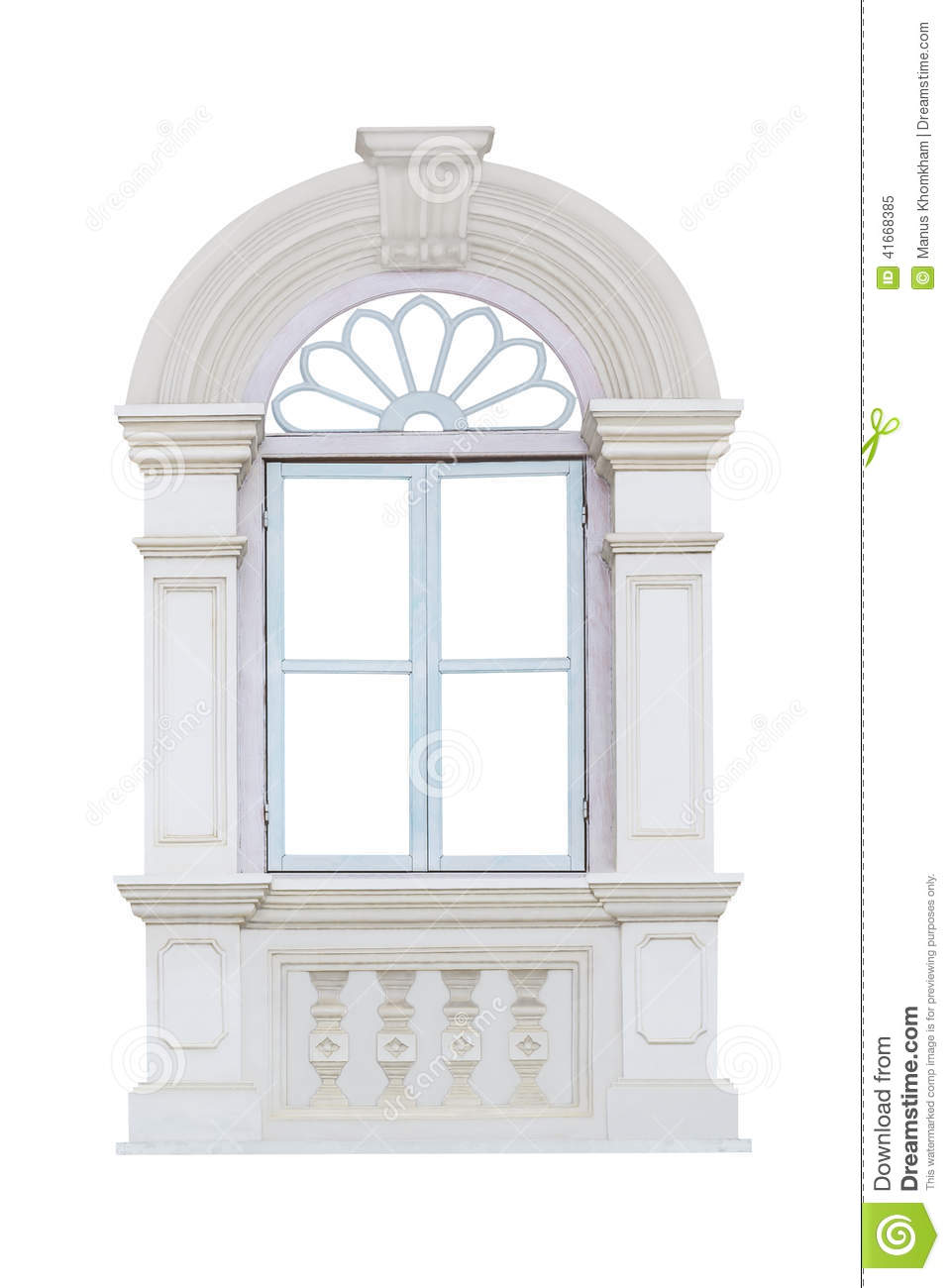 White window frame - Clipping Frame Isolated Path Window