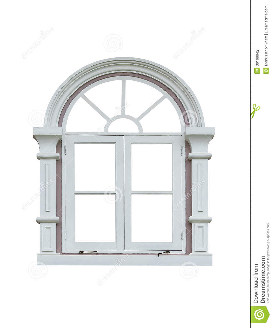 White window frame - Background Frame Isolated Window