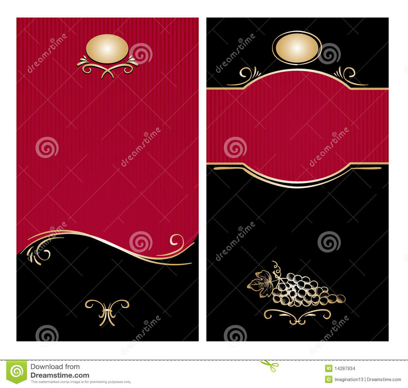 Classic Wine Label Stock Images Image 14287934