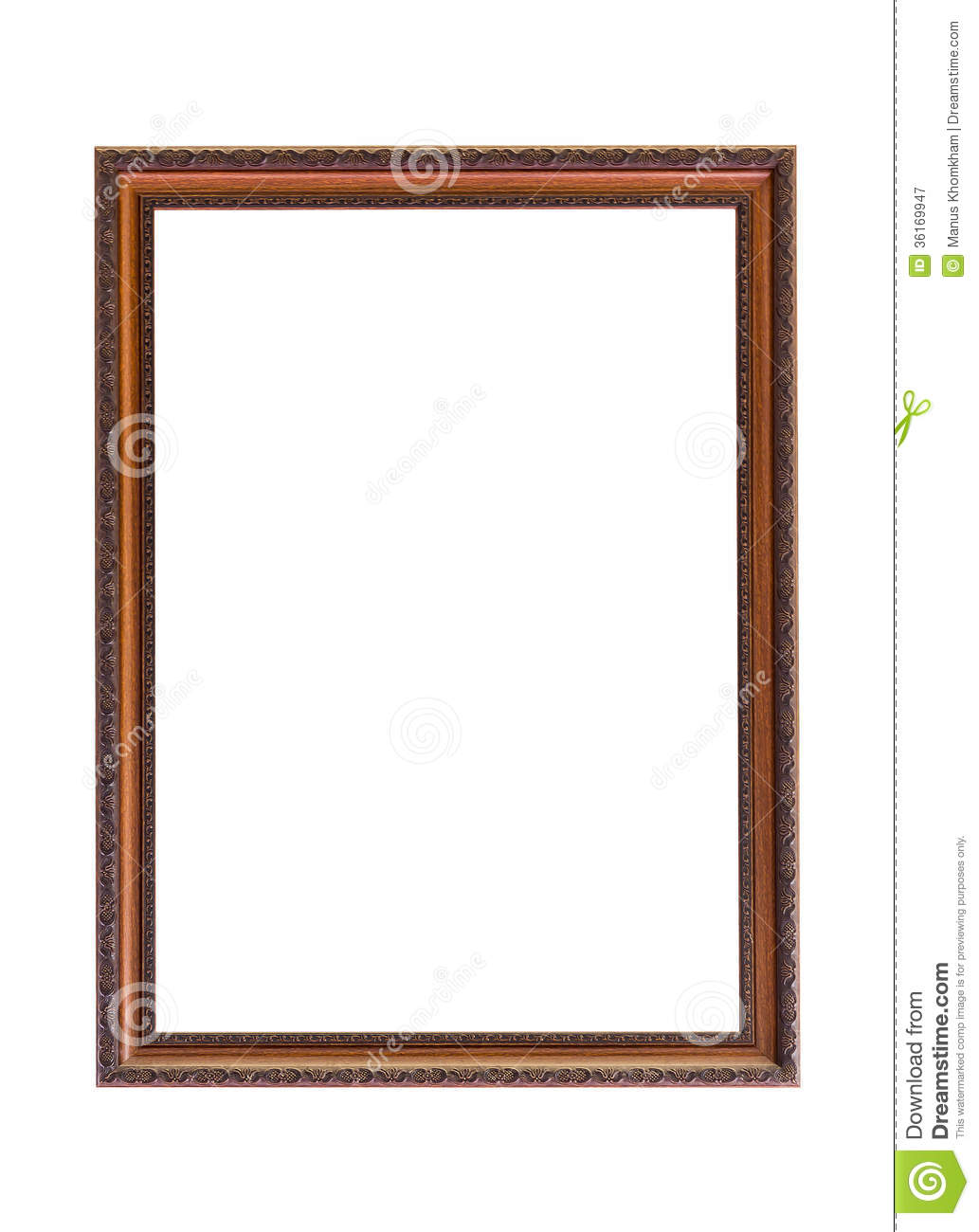 White Wood Frame : Classic Wooden Frame On White Royalty Free Stock Photography - Image ...