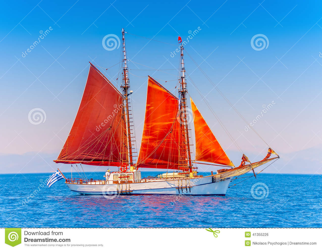 Classic Wooden Sailing Boat Stock Photo - Image: 41355226