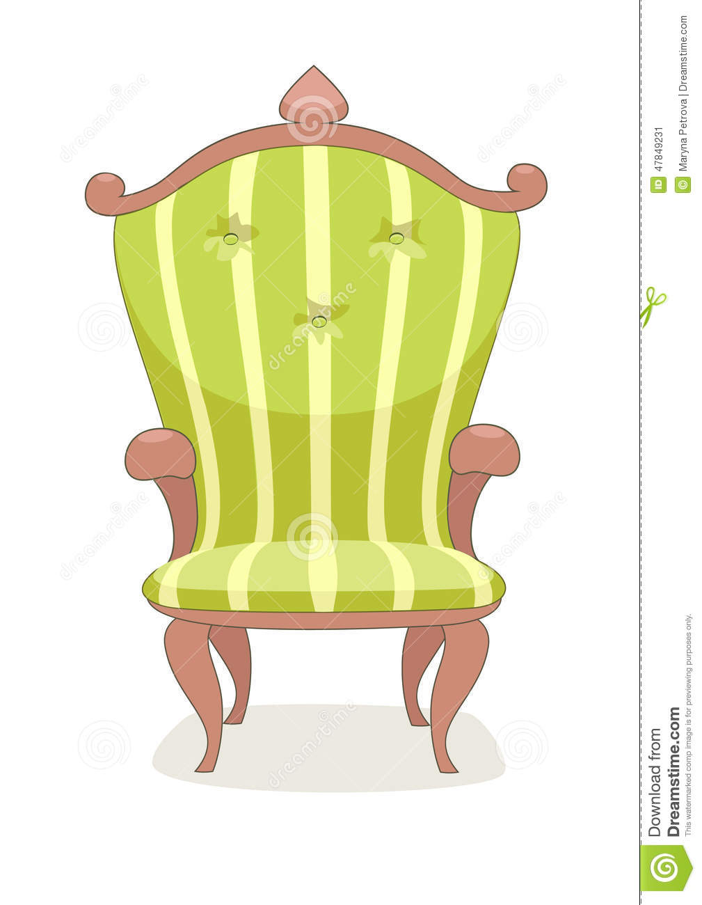 classic wooden yellow chair stock vector image 47849231 classic wooden chair designs classic wooden high chairs for babies