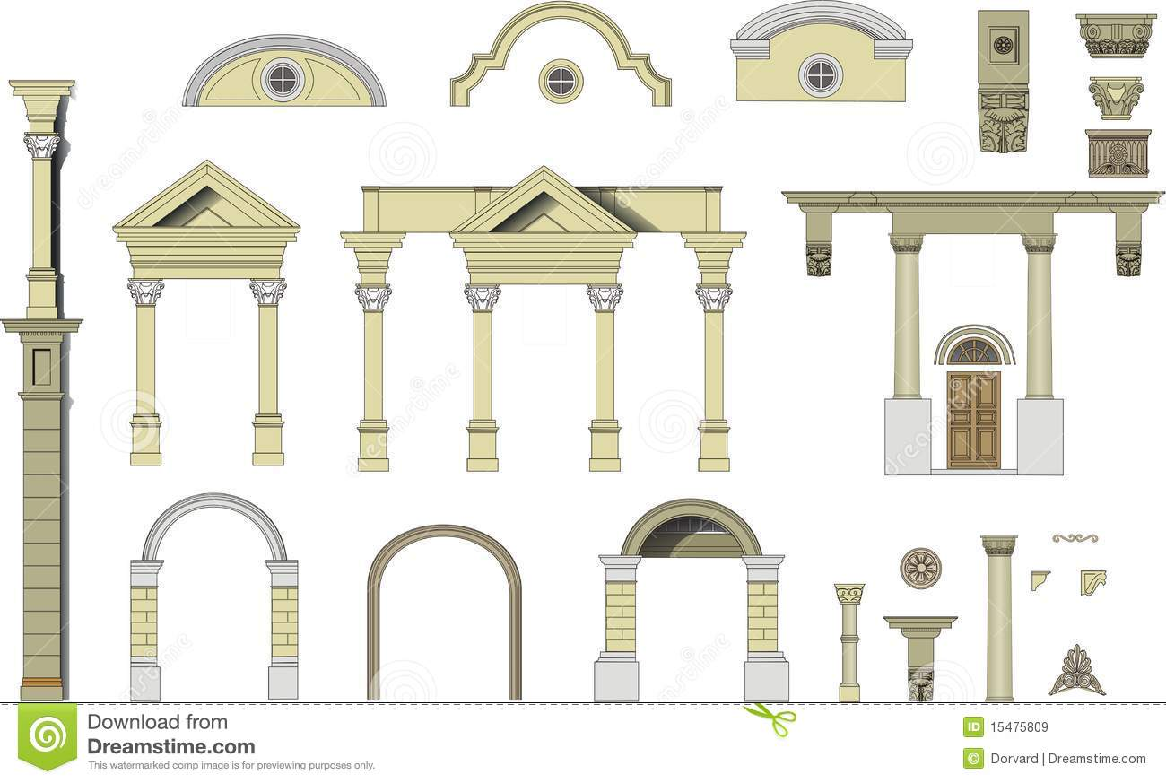 Classical Arches And Columns Royalty Free Stock Images