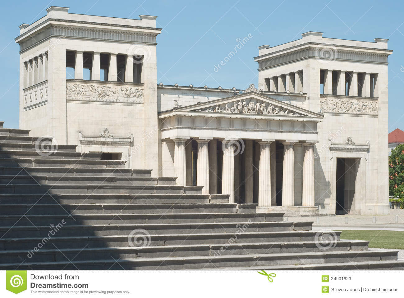 Classical Architecture With Steps Stock Photos - Image: 24901623