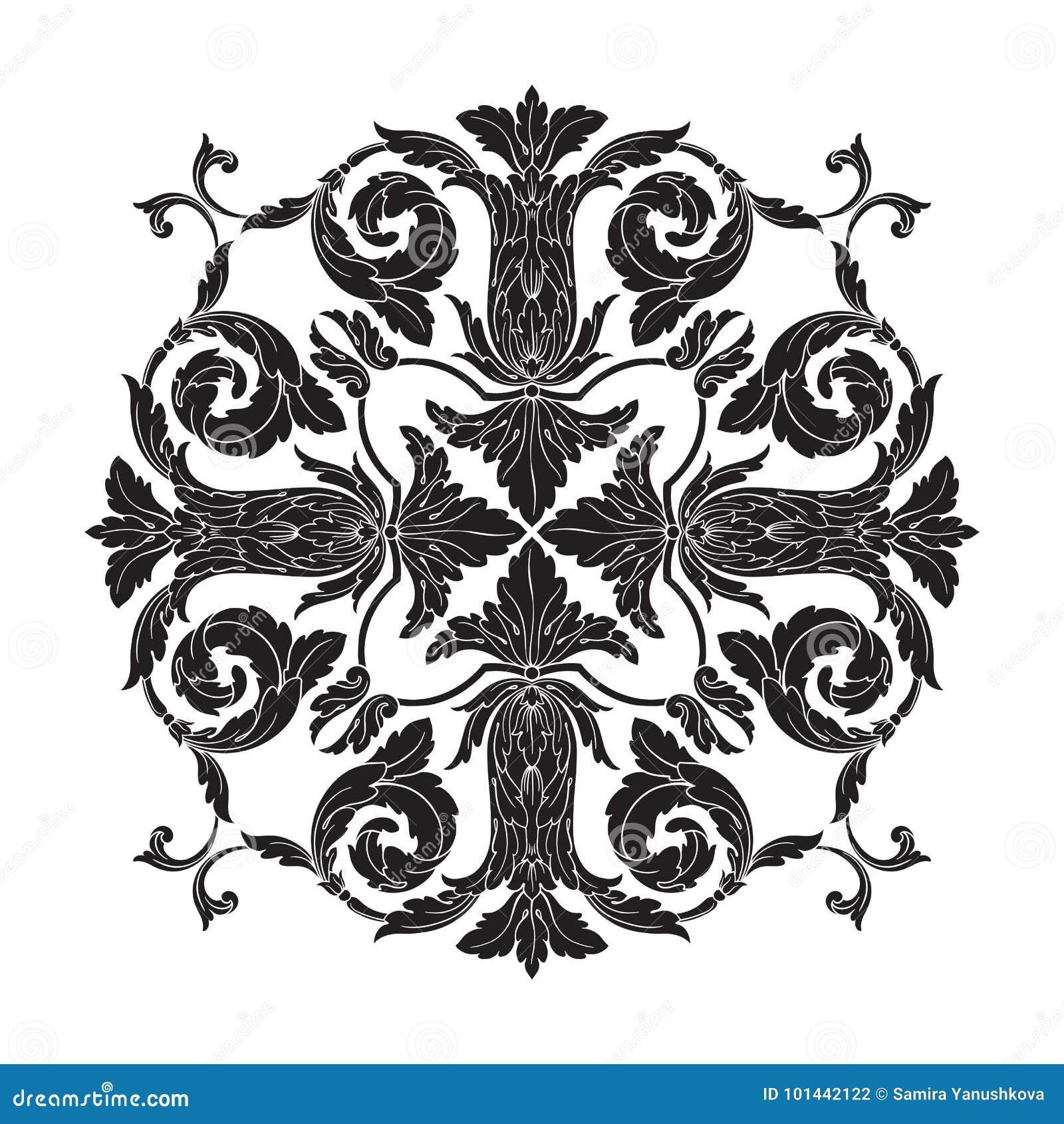 Classical baroque ornament vector stock vector image for Baroque design elements