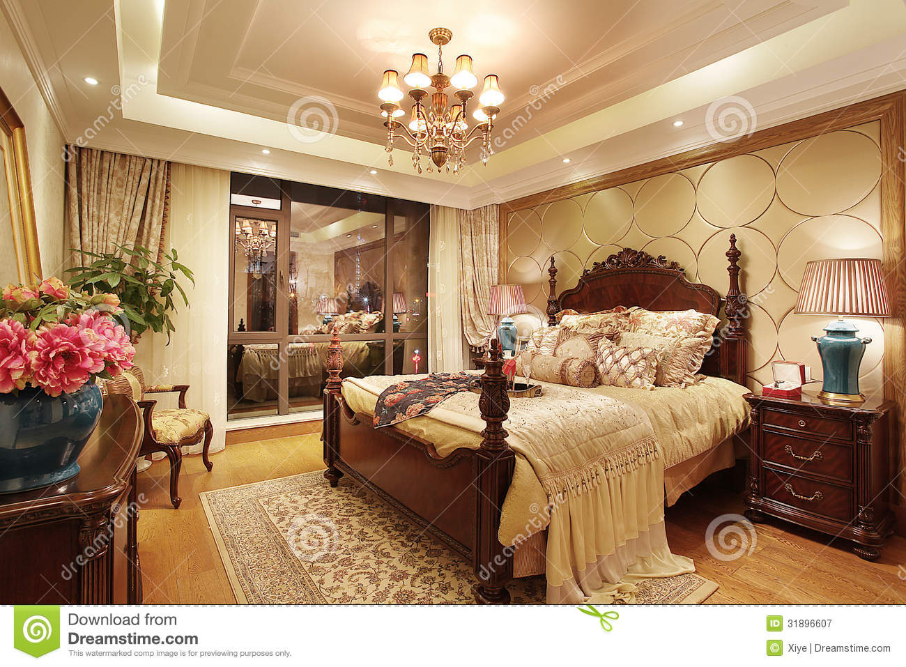 Colori Pareti Camera Da Letto Classica.Classical Bedroom Stock Image Image Of Room Luxury 31896607