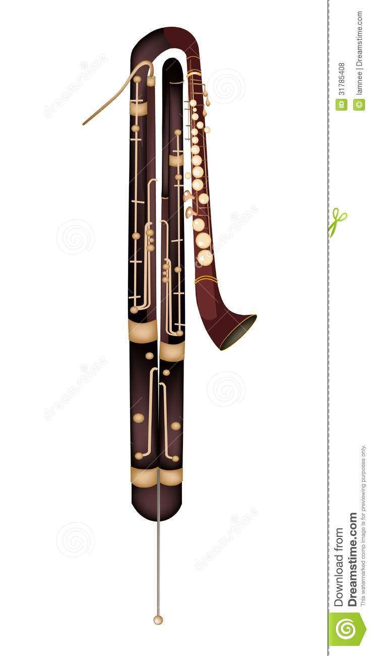 Classical Contrabassoon Isolated On White Backgr Royalty Free Stock ...