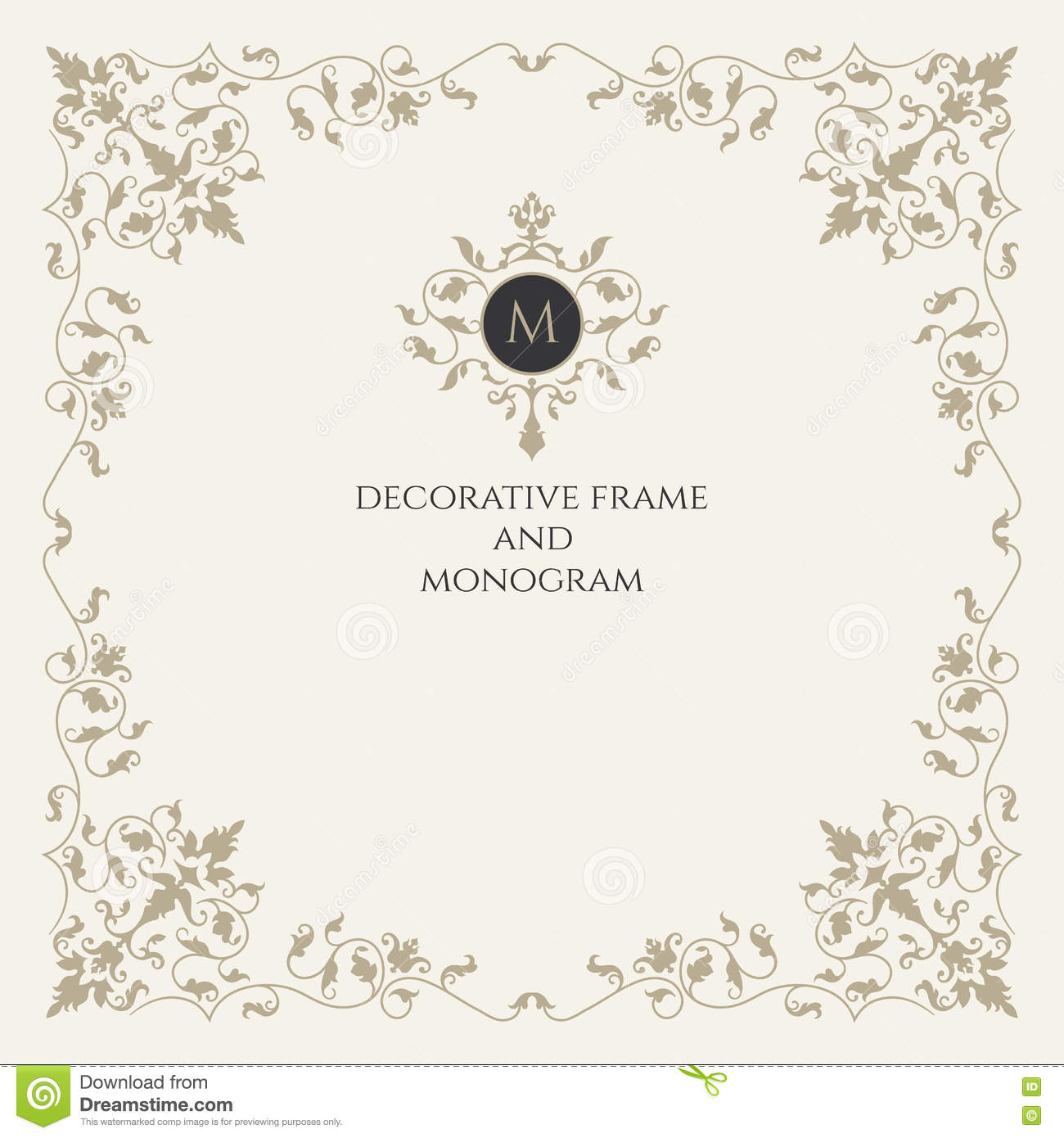 Classical Elements. Monogram And Frame. Classic Design Elements For ...