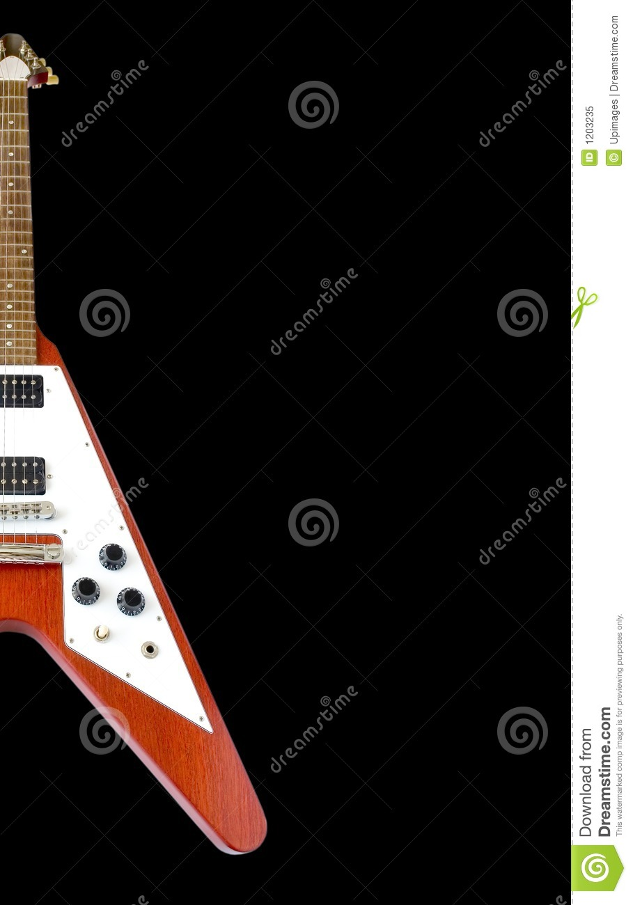 Classical Flying V Guitar (clipping path included)