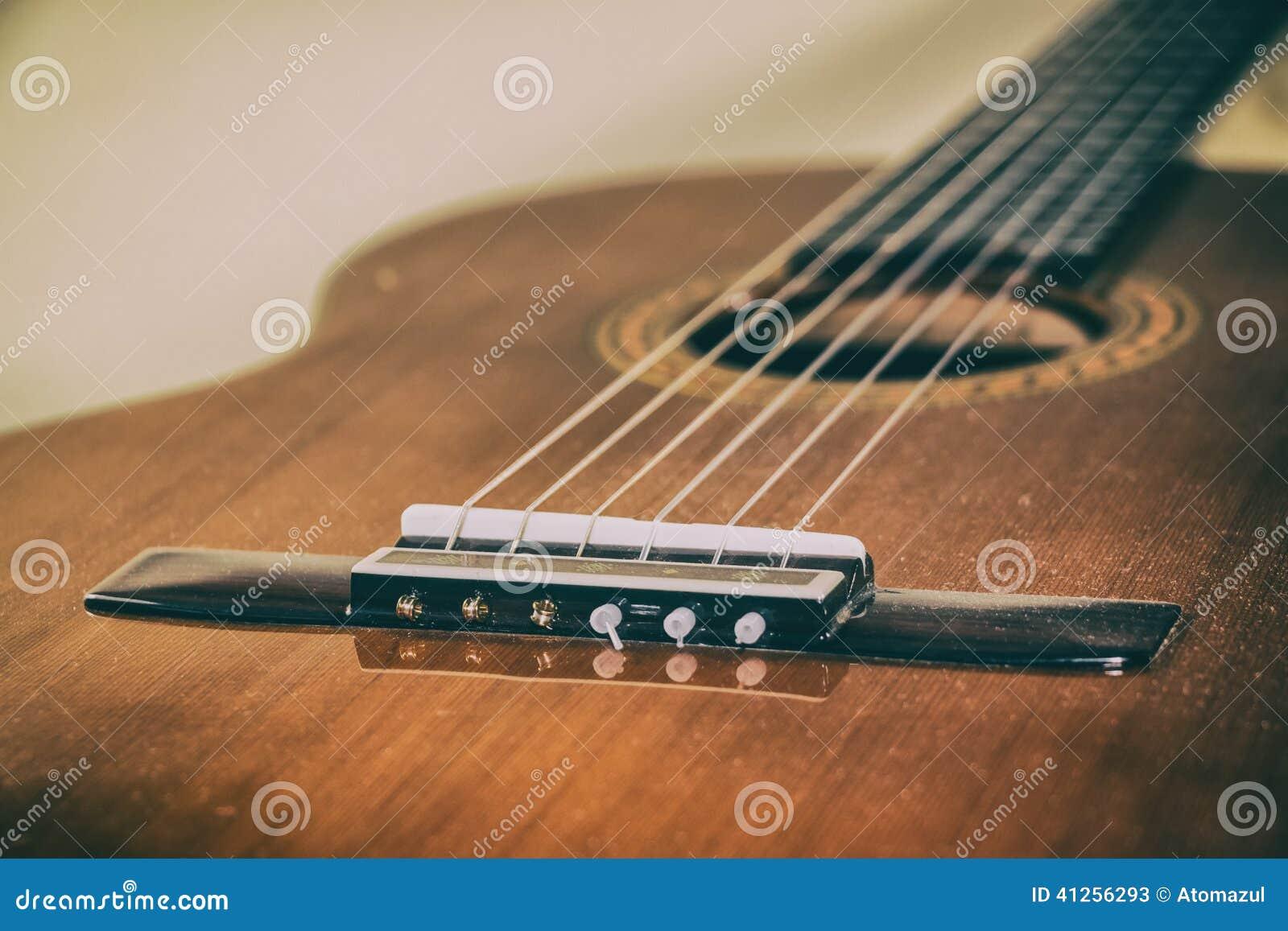 classical guitar bridge stock image image of acoustic 41256293. Black Bedroom Furniture Sets. Home Design Ideas