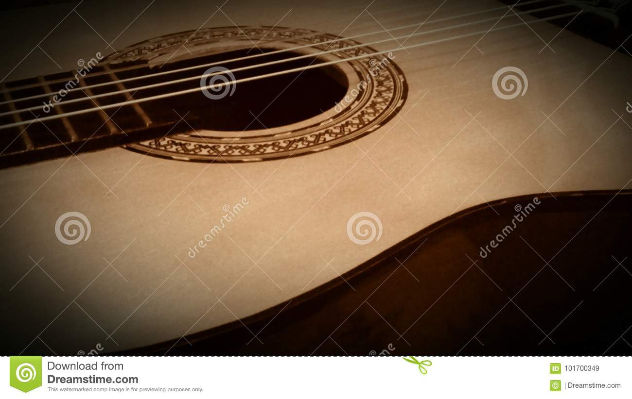 Classical Guitar stock image  Image of sound, instruments