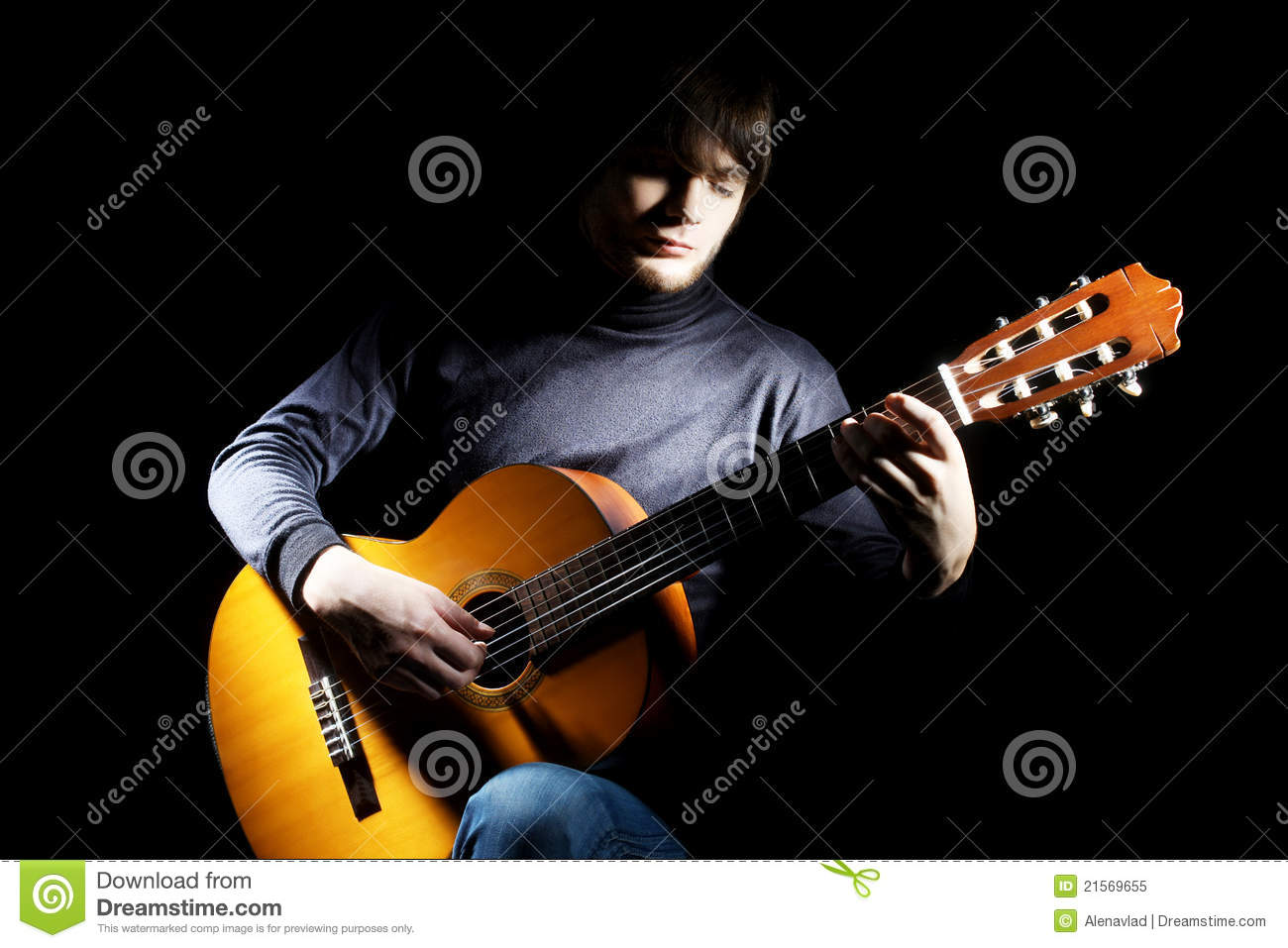 classical guitar player royalty free stock photo image 21569655. Black Bedroom Furniture Sets. Home Design Ideas