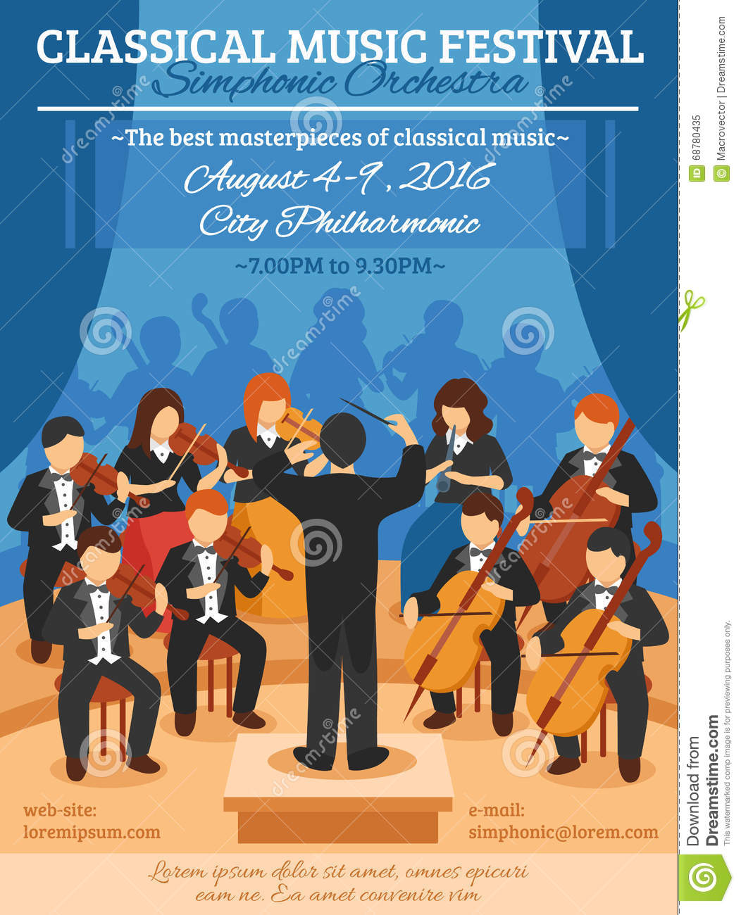 Classical Music Festival Flat Poster