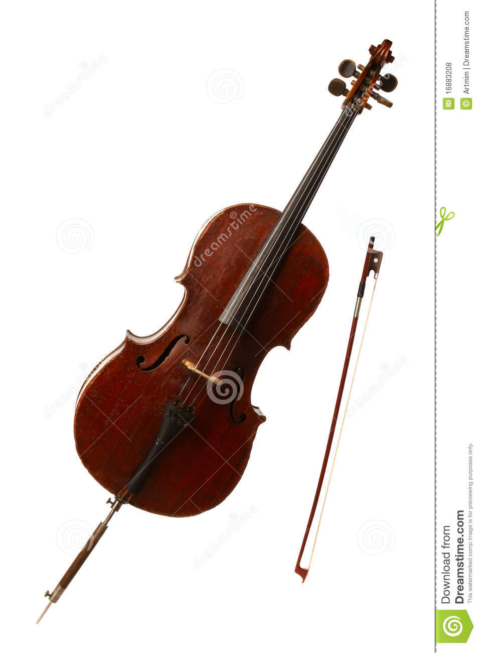 Classical Musical Instrument - Cello Stock Photo - Image ...