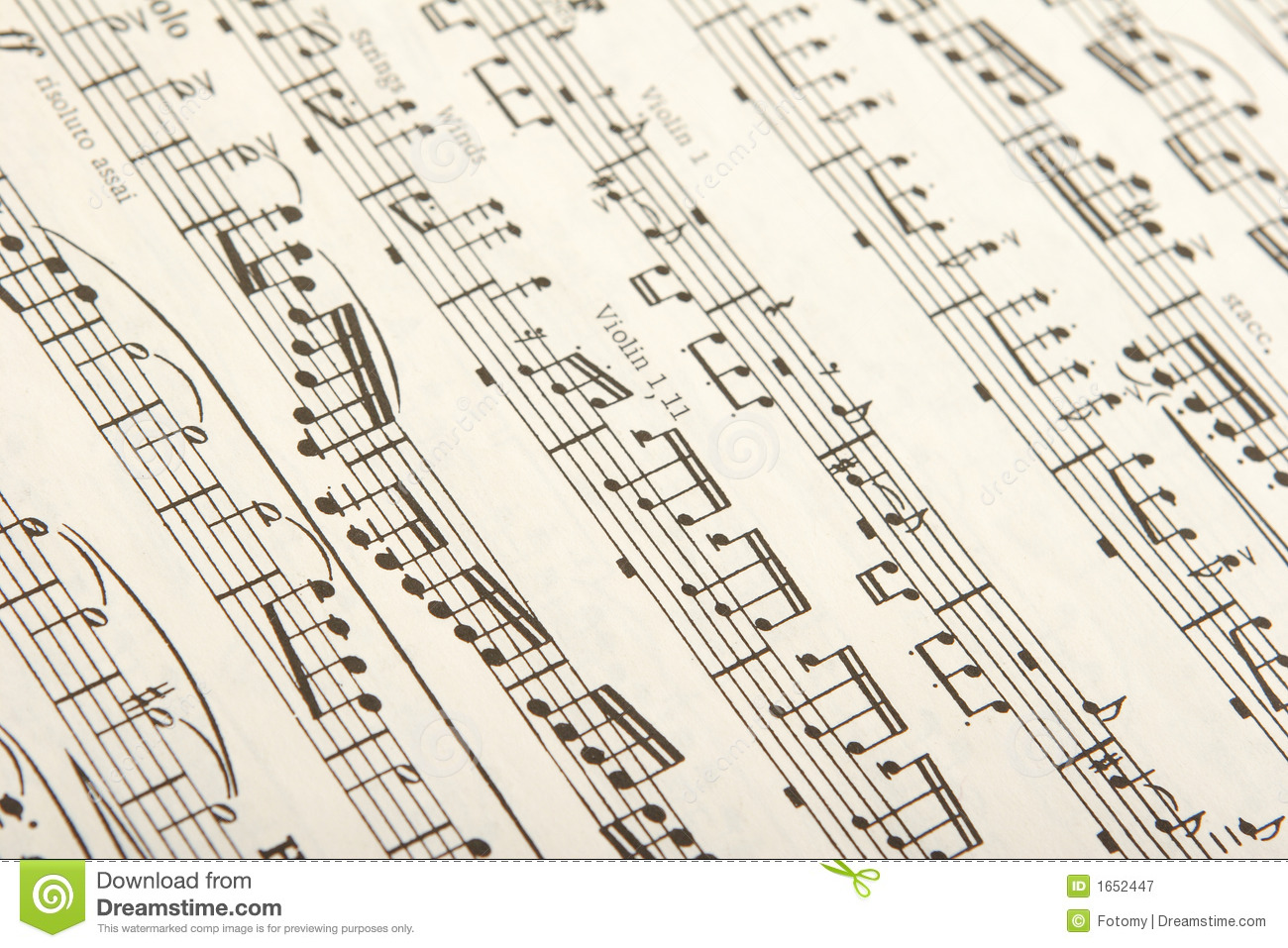 Classical sheet music stock image  Image of jazz, melody