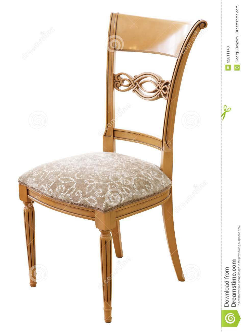 Classical style chair stock photo image 32811140 - Chaise style ecolier ...