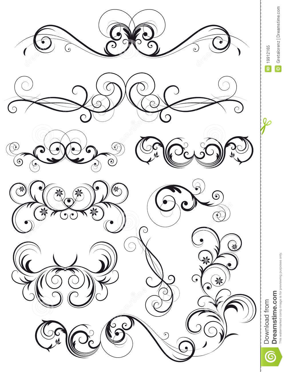 Floral Decoration classical swirly floral decoration royalty free stock photo