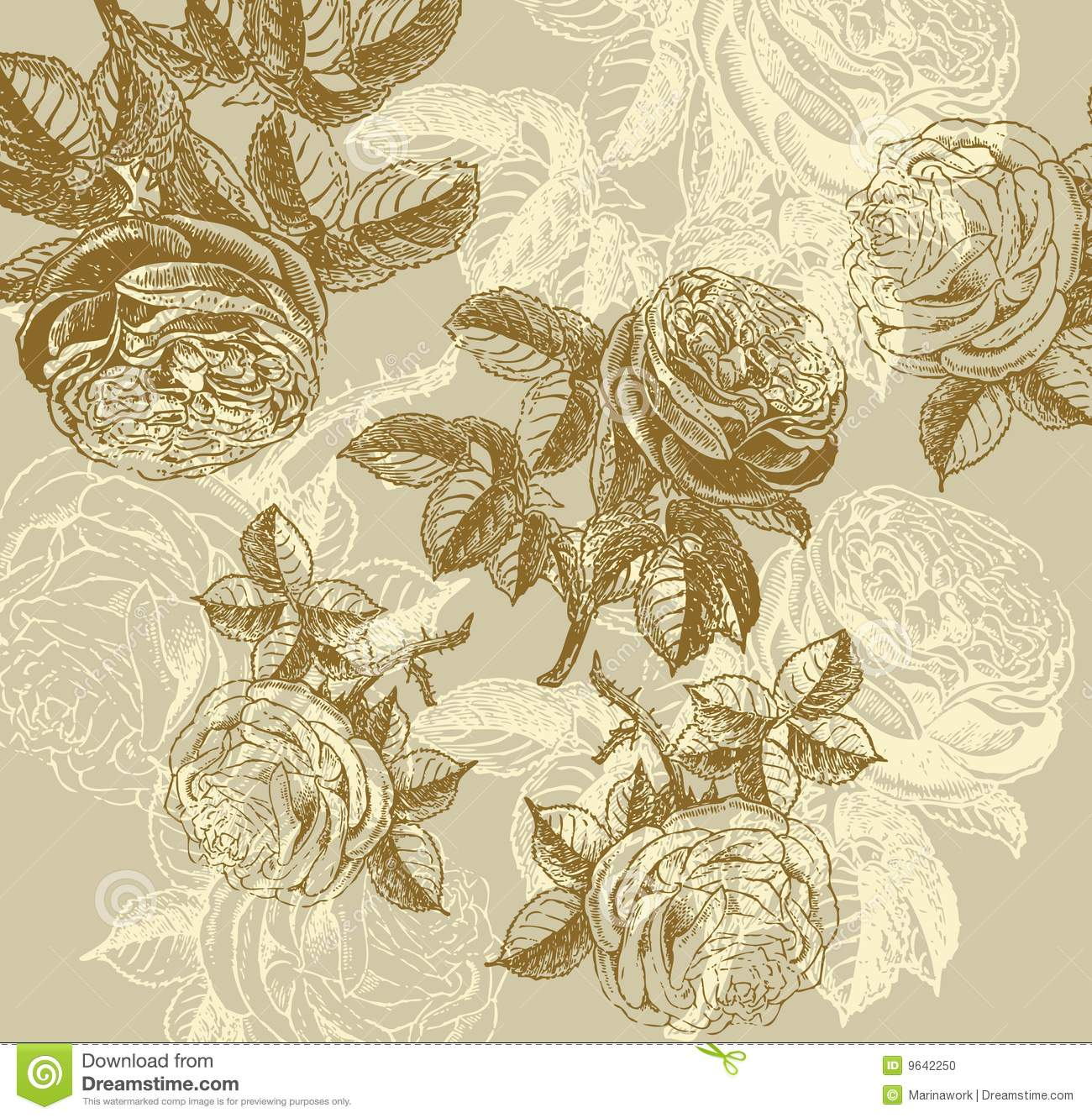 Classical Wall-paper With A Flower Pattern. Stock Vector ...