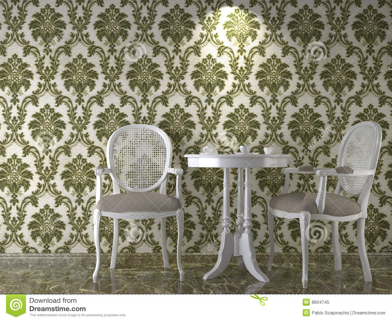 Classical Wallpaper Interior