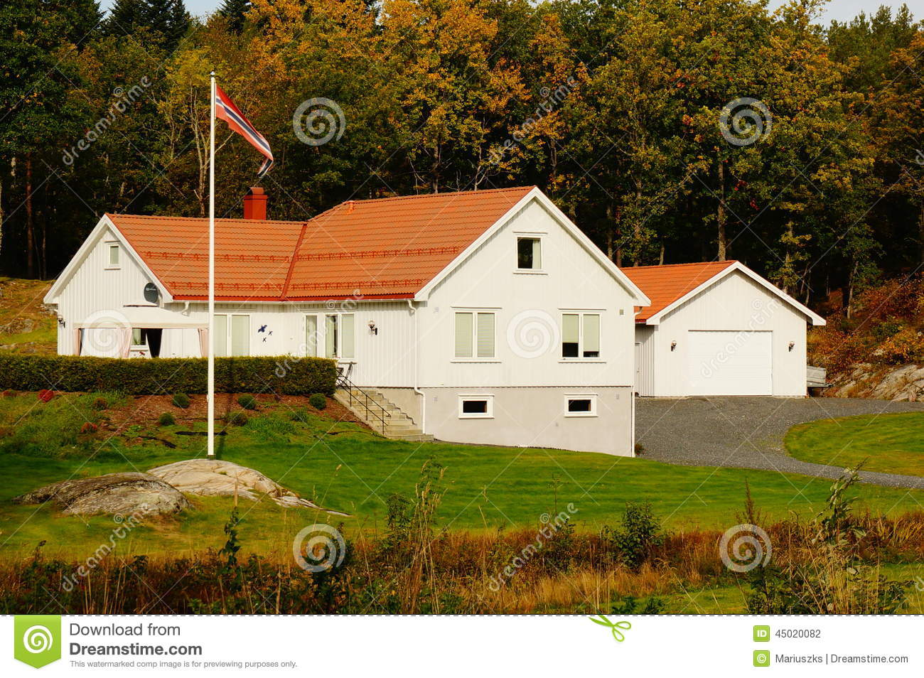 Classical white farm house norway stock photo image 45020082 - Norwegian wood houses ...