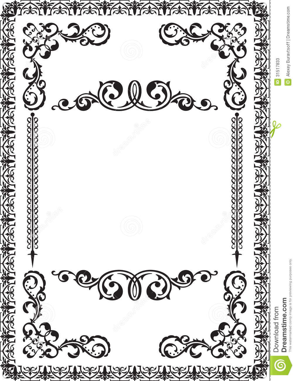 Classicall nice frame stock vector. Illustration of curve - 31517833