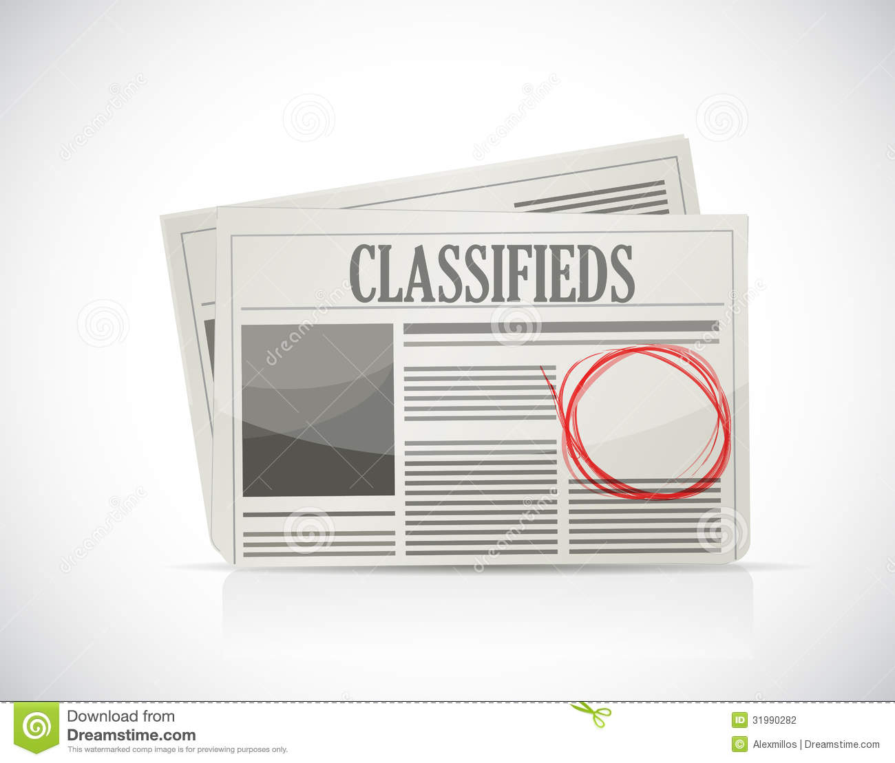 classified ad  newspaper  business concept  stock
