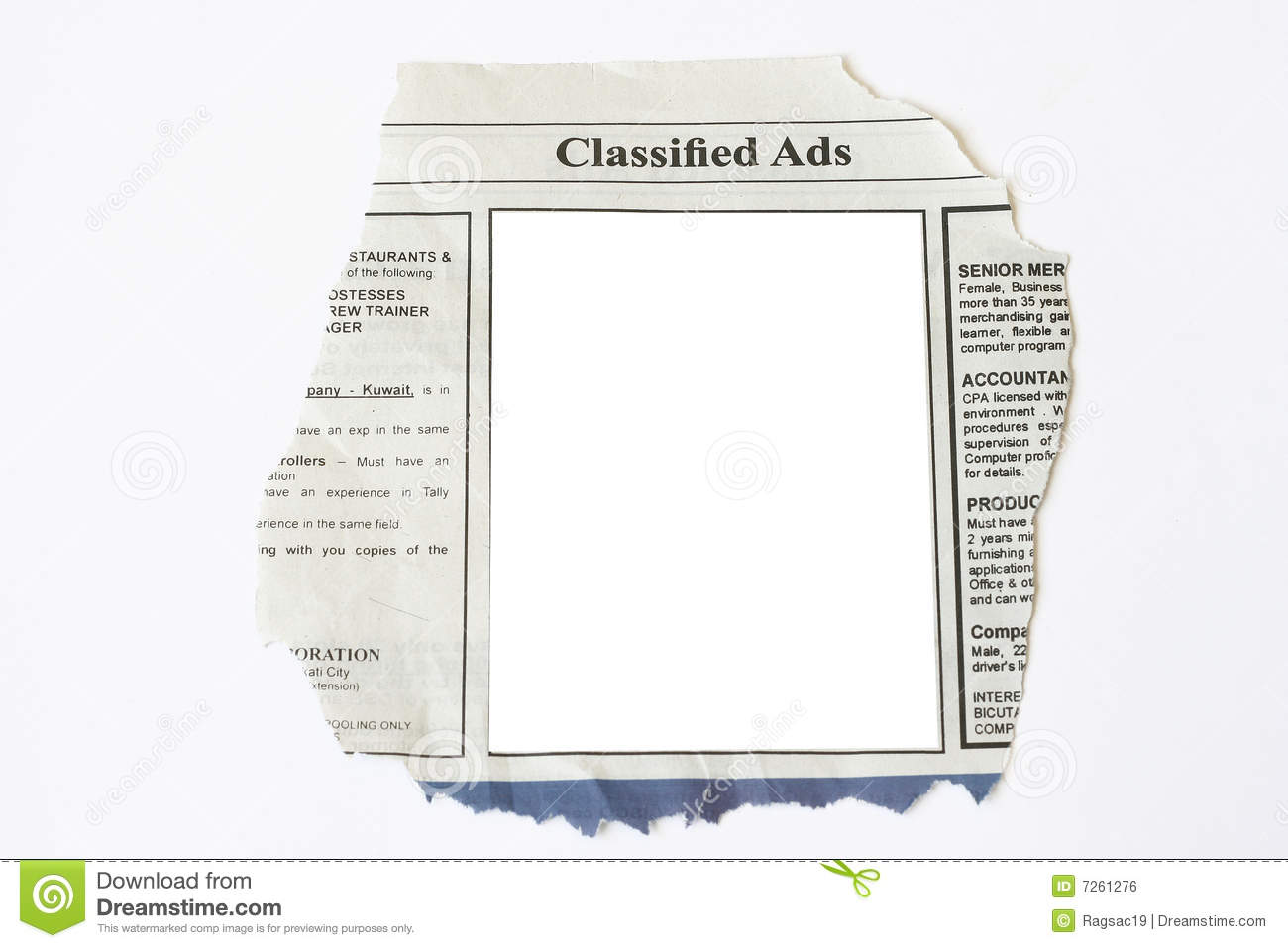 Classified Ads Royalty Free Stock Image Image 7261276