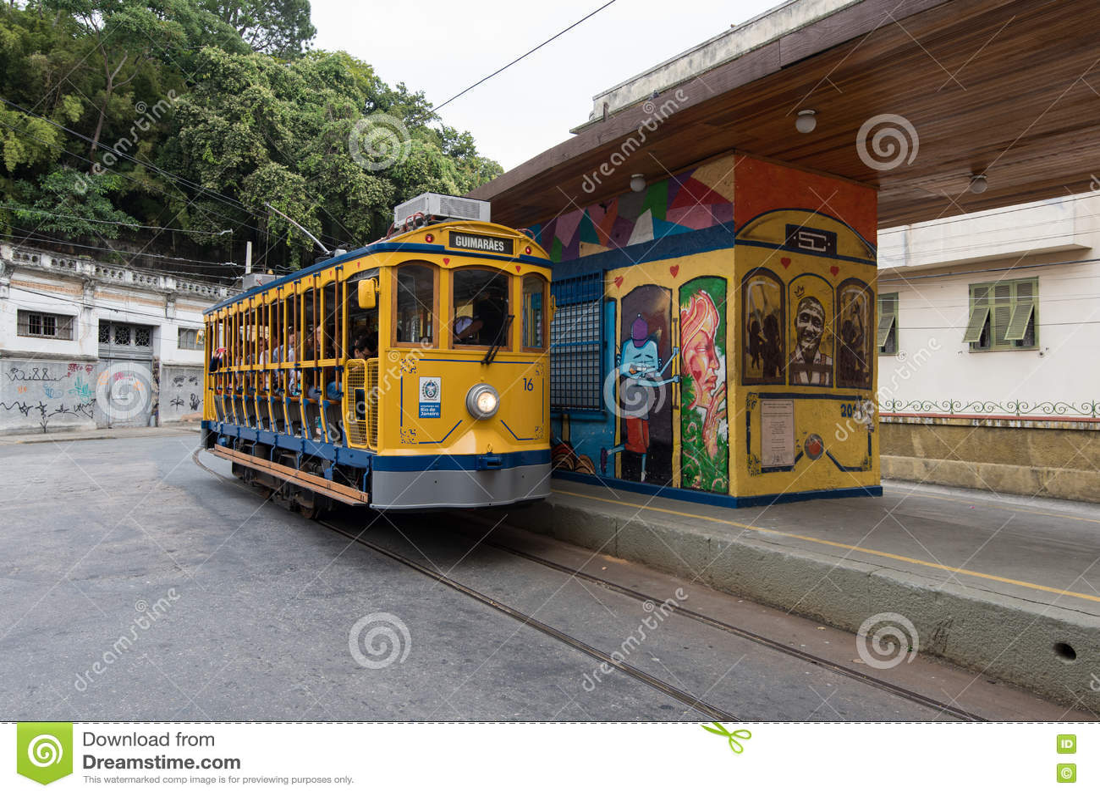 Classimtram van Santa Teresa in Rio de Janeiro, Brazilië