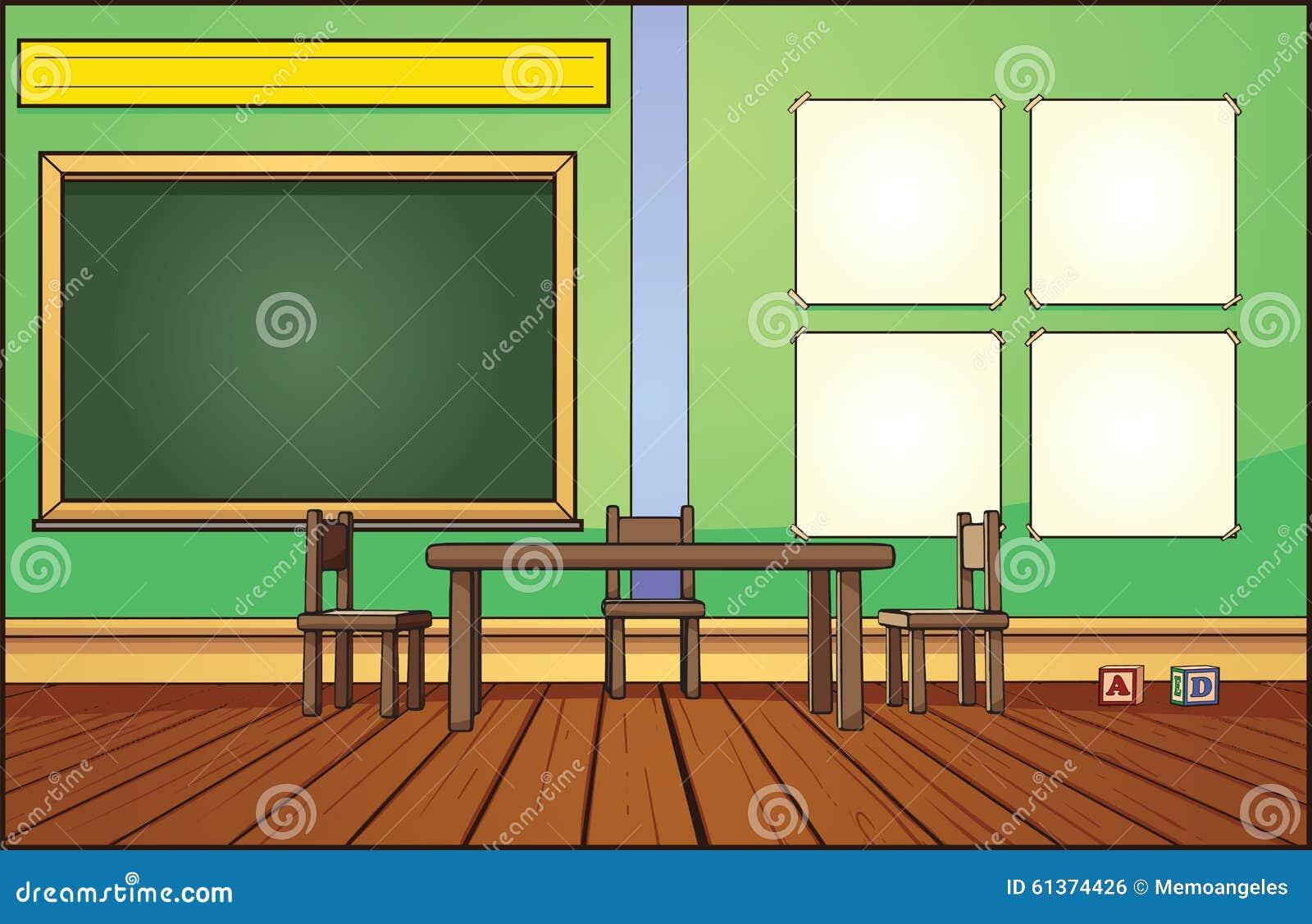 Classroom Design Clipart ~ Classroom background stock vector illustration of