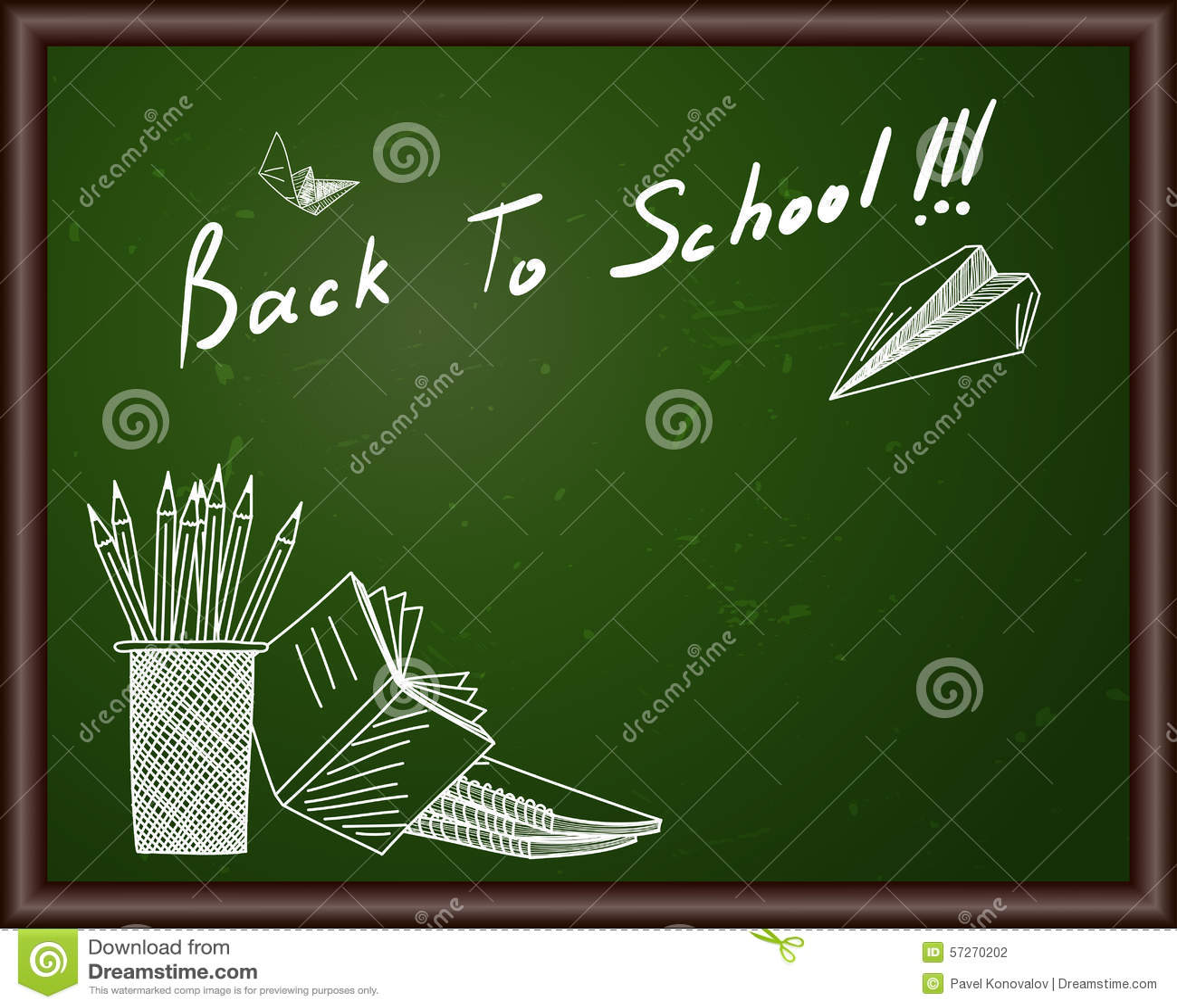 Classroom Blackboard Design ~ Classroom blackboard stock vector image