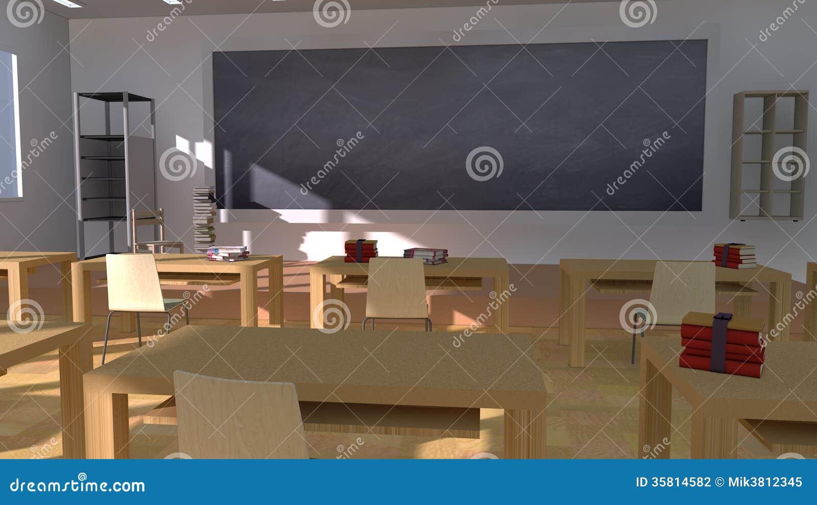 Classroom Blackboard Design ~ Classroom stock photography image