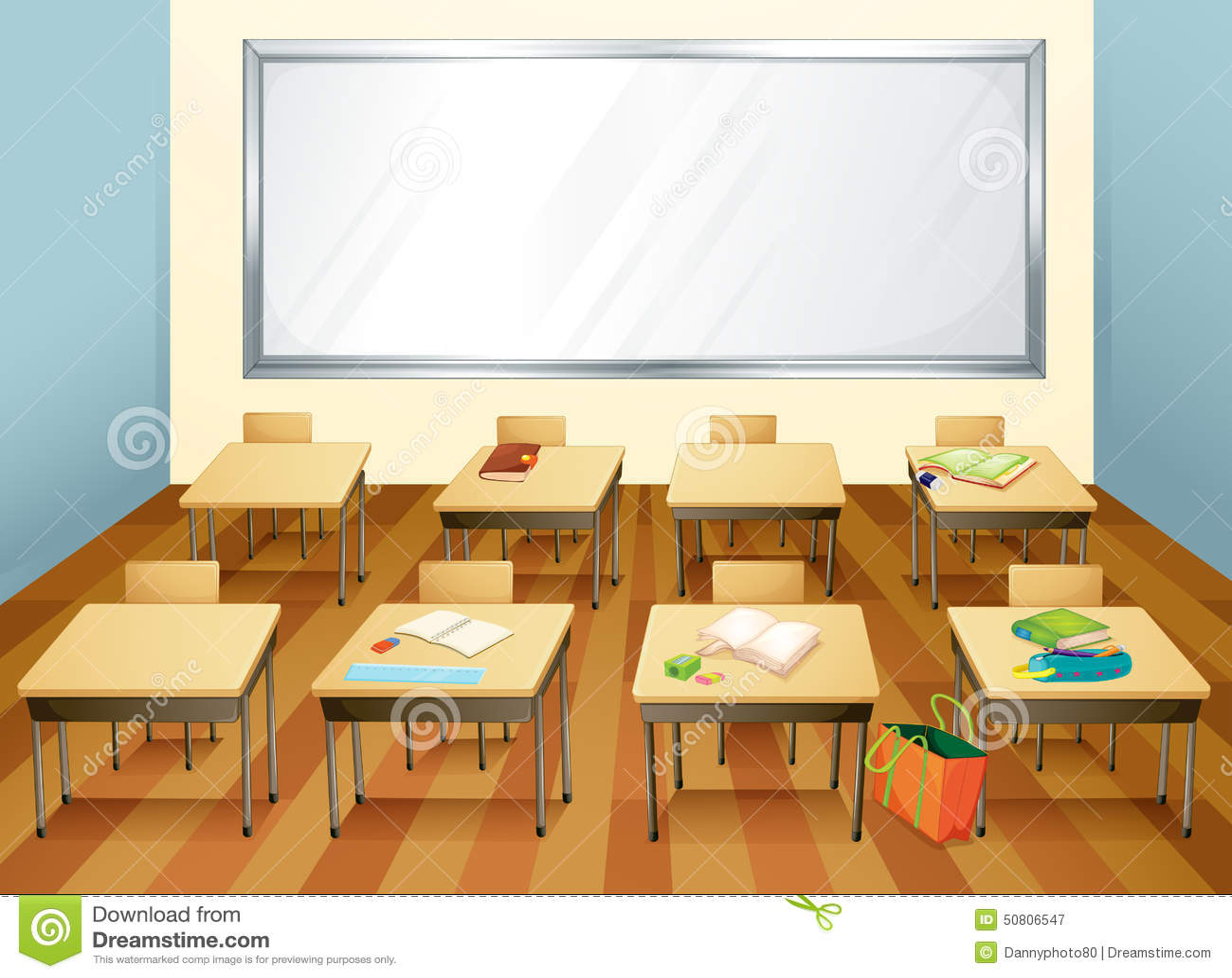 Classroom Design Clipart : Classroom stock vector image
