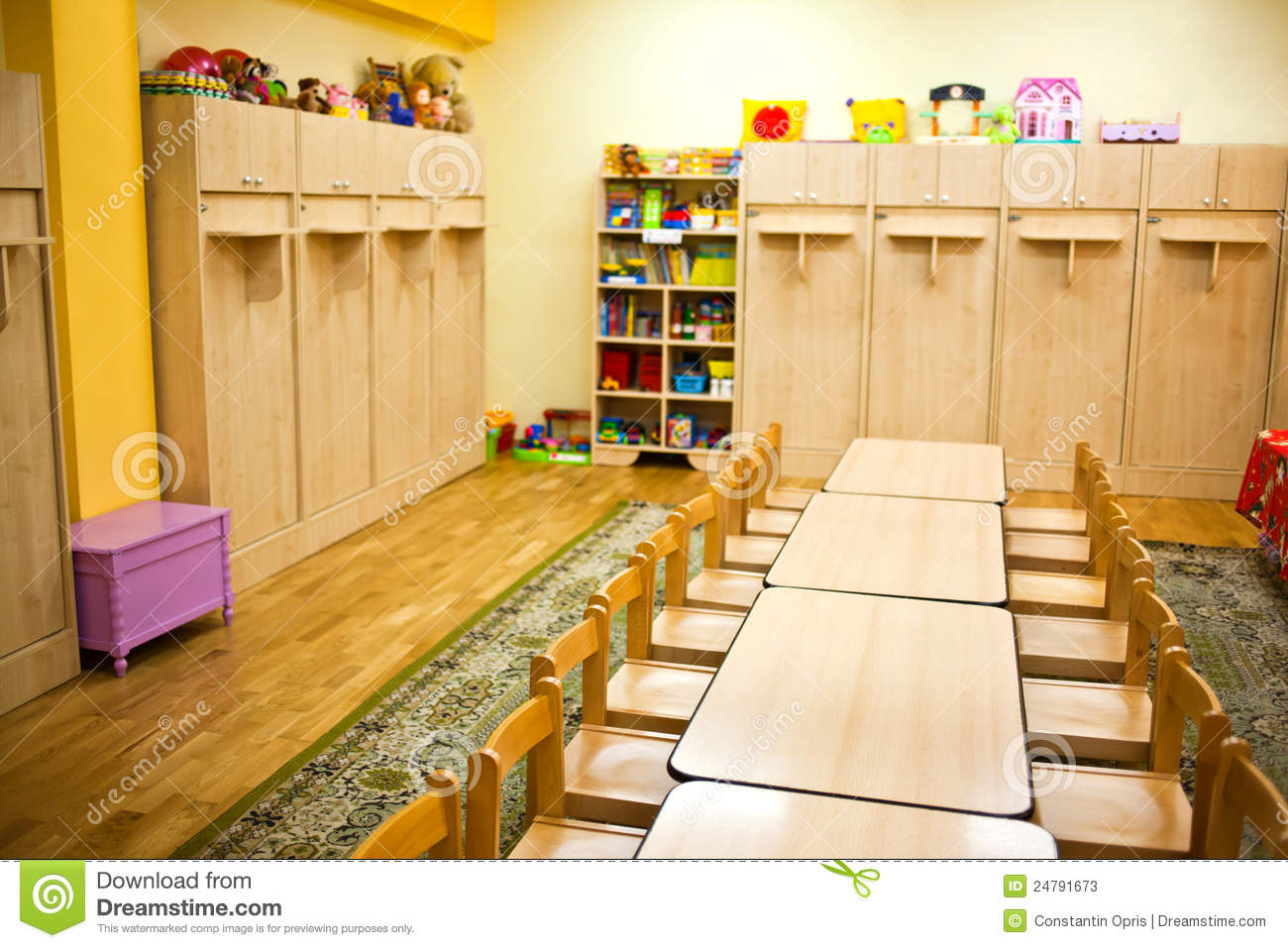 Preschool Classroom Furnitures ~ Classroom furniture stock photos image