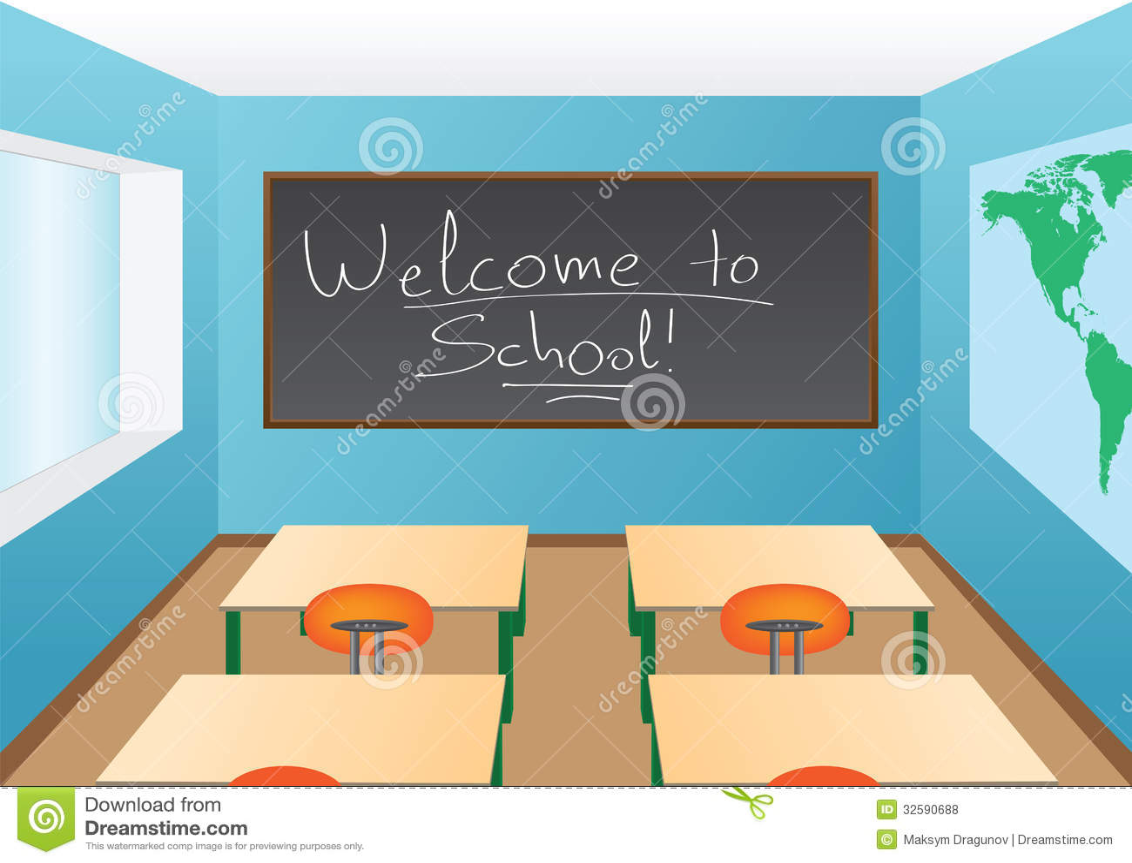 Classroom Blackboard Design ~ Classroom royalty free stock photos image