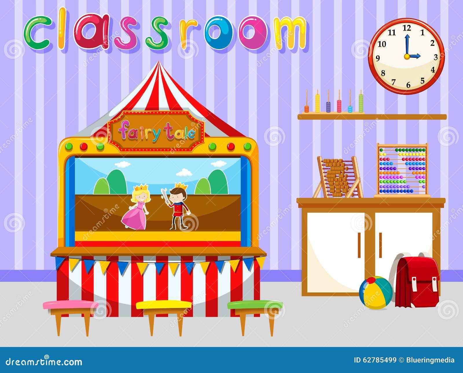 Classroom For Kindergarten Students Stock Vector Image