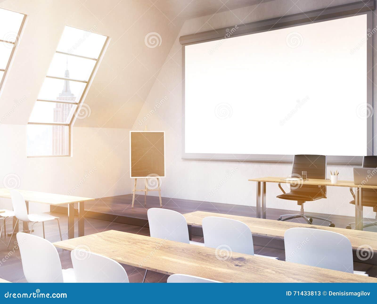 Classroom Blackboard Design ~ Classroom with ny view toning stock illustration image