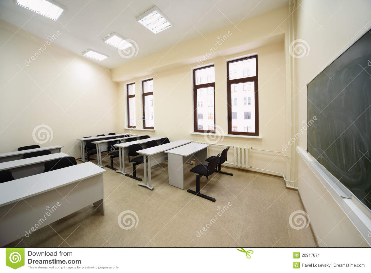 Incredible Classroom With Wooden School Desks Stock Image Image Of Pdpeps Interior Chair Design Pdpepsorg