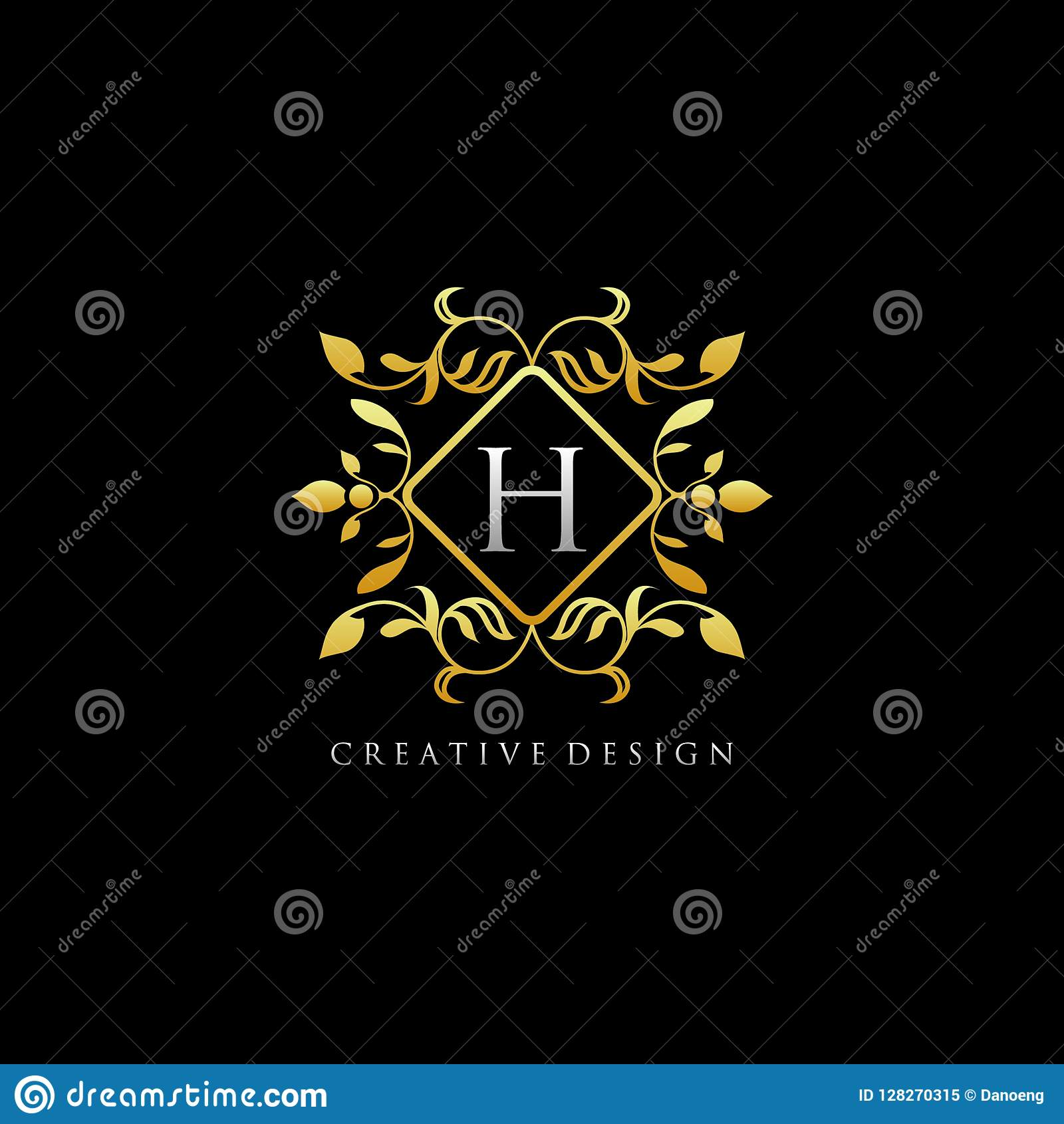 Company with golden h logo