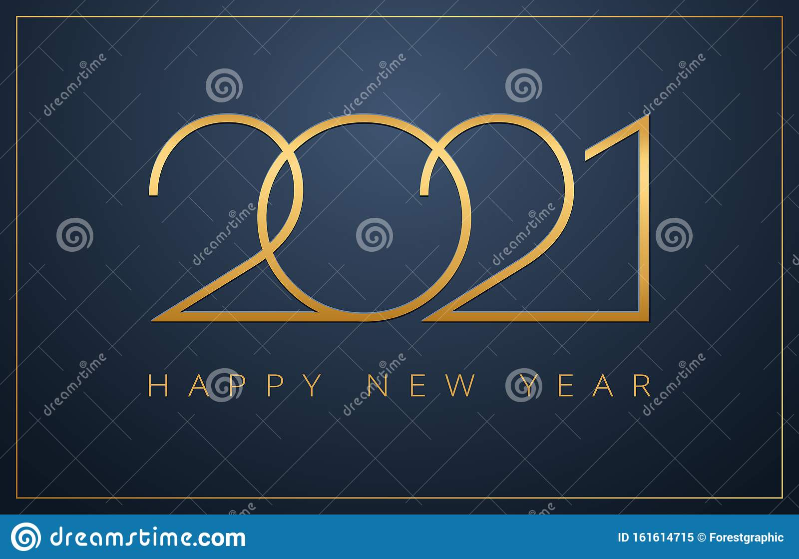 Classy 2021 Happy New Year Background. Golden Design For ...