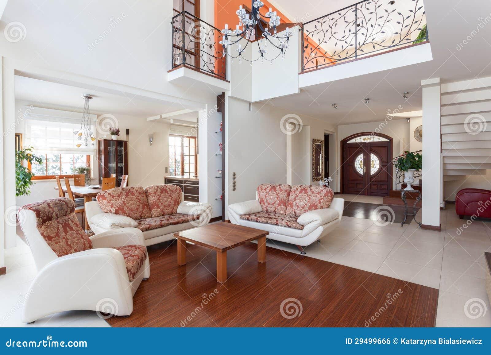 Classy house mezzanine stock photo image of beige - Plantas de interior pequenas ...