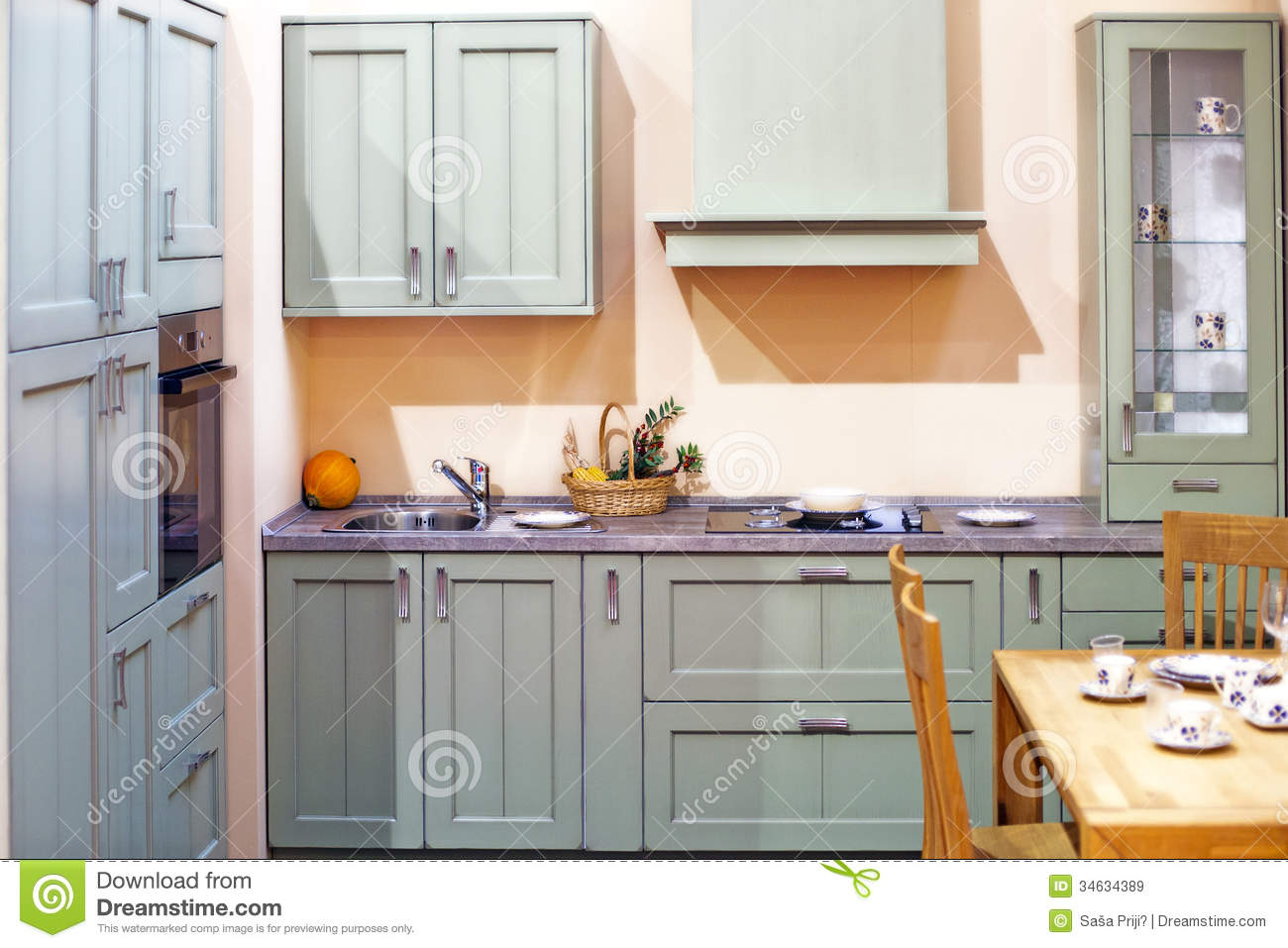 Classy Kitchen Interior Detail Stock Image Image 34634389