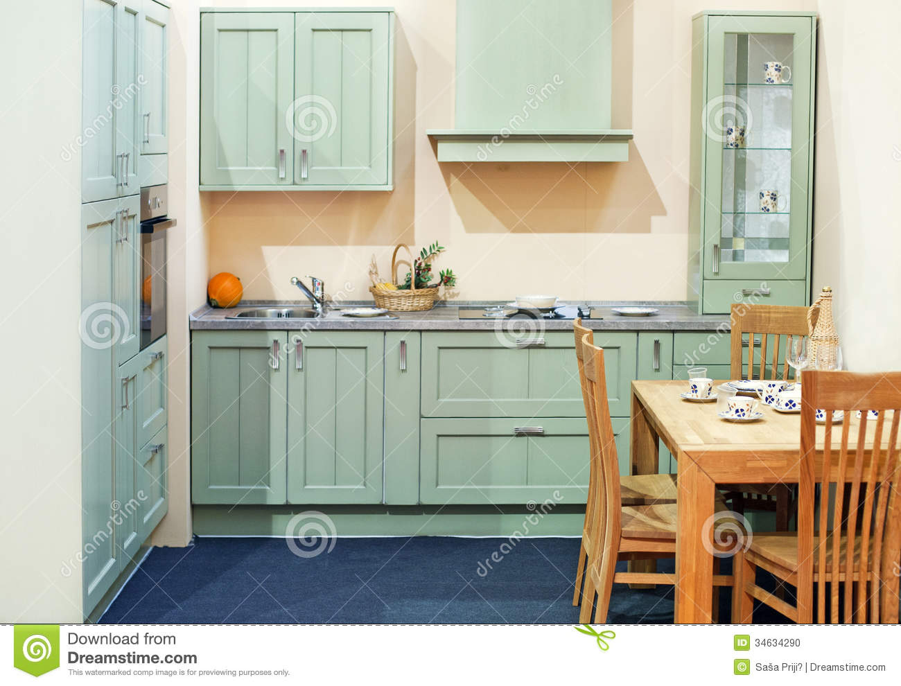 Classy Kitchen Interior Stock Photo Image Of Range Ritzy