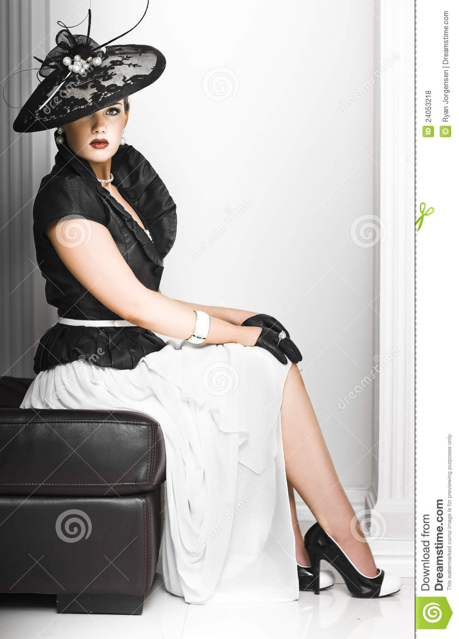Classy Lady In Elegant Fashion Stock Photo Image 24053218