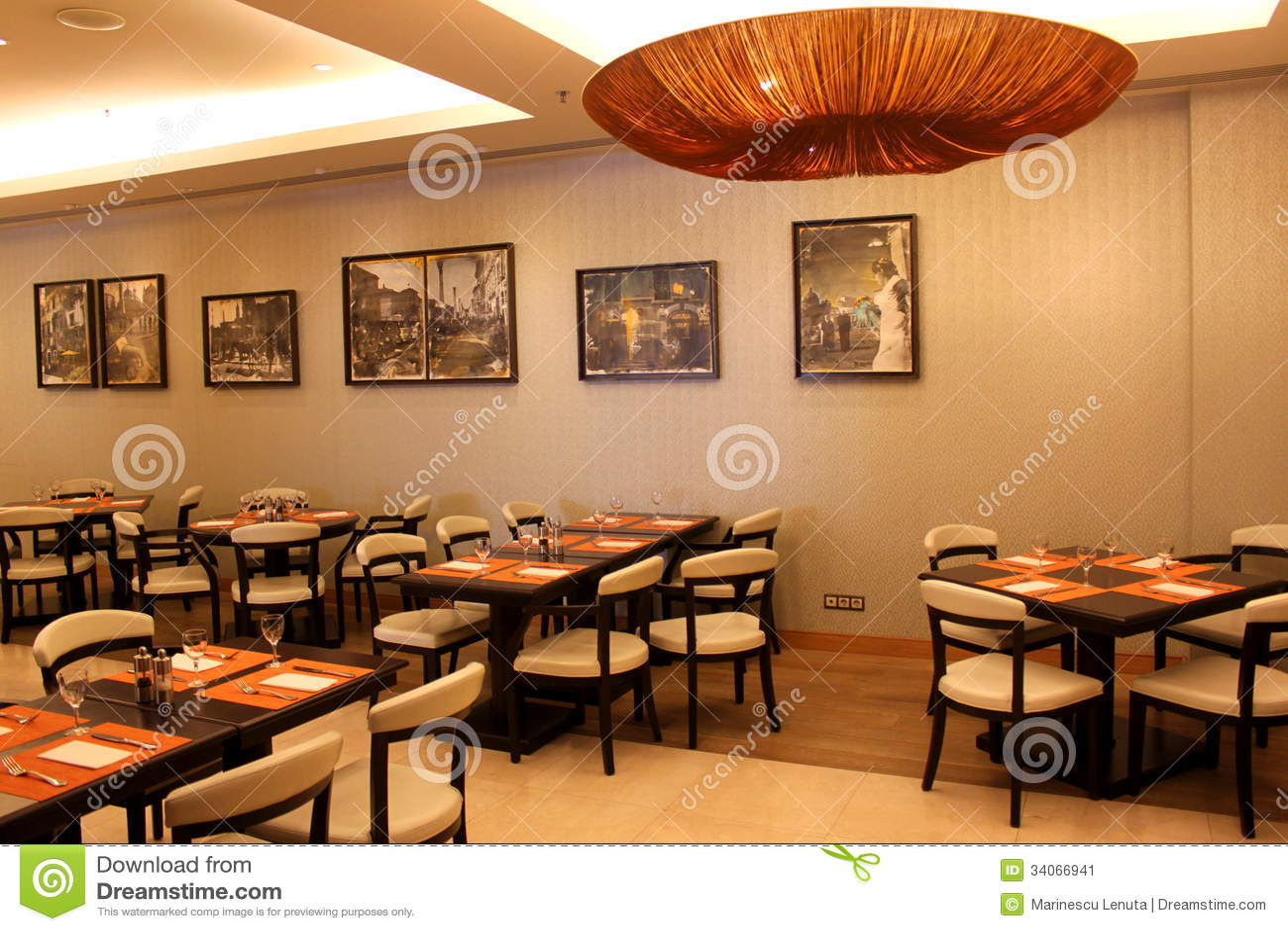 Classy restaurant editorial photo image